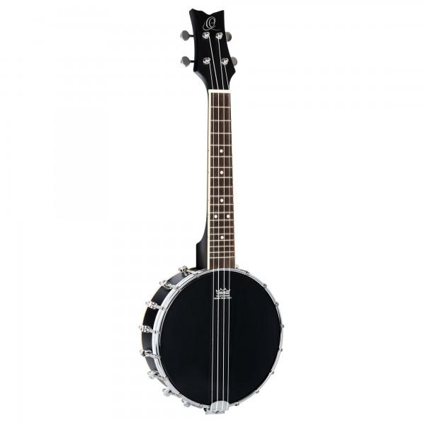 ORTEGA Banjolele Series Banjolele 4 String + Gigbag - Black (OUBJ100-SBK)