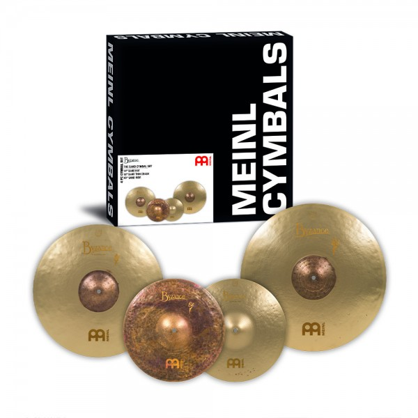 "MEINL Cymbals Byzance Vintage Sand Cymbal Set - 14"" Sand Hat/18"" Sand Thin Crash/20"" Sand Ride (BV-141820SA)"