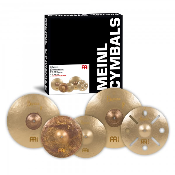 "MEINL Cymbals Benny Greb Sand Cymbal Box Set - 14"" Sand Hat/18"" Sand Thin Crash/20"" Sand Ride + Free 16"" Vintage Trash Crash (BV-480+B16TRC)"
