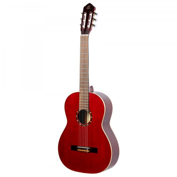 ORTEGA Classical Guitar Family Series 4/4 inclusive Bag Lefthand - WR - Winered (R121LWR)