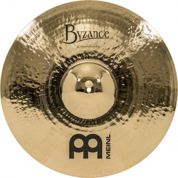"MEINL Cymbals Byzance Brilliant Heavy Hammered Ride - 22"" (B22HHR-B)"