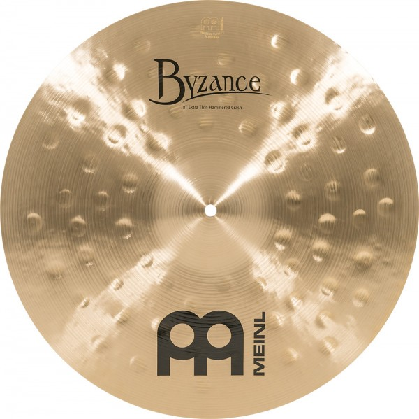 """MEINL Cymbals Byzance Traditional Extra Thin Hammered Crash - 18"""" (B18ETHC)"""