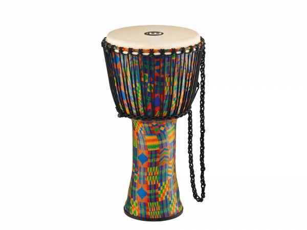 MEINL Percussion Travel Series African Djembe - Kenyan Quilt, Large - Goat Head (PADJ2-L-G)