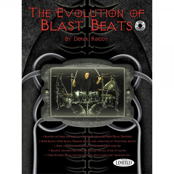 "Derek Roddy ""The Evolution of Blast Beats"" textbook incl. CD - English (DRODDYBB)"