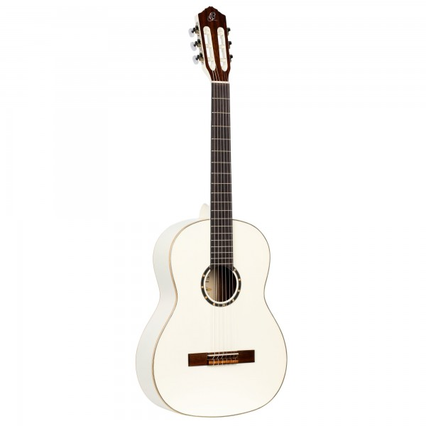 ORTEGA Classical Guitar Family Series 4/4 inclusive Gigbag Slim Neck - WH - White (R121SNWH)