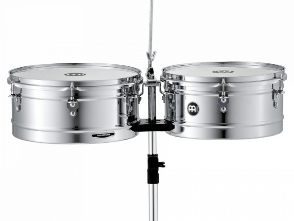 """MEINL Percussion Headliner Series Timbales - chrome 13"""" + 14"""" (HT1314CH)"""