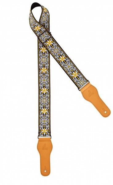 "ORTEGA guitar strap - length 1580mm / 62"" (Max) / width 50mm - classic yellow (OCS-560)"