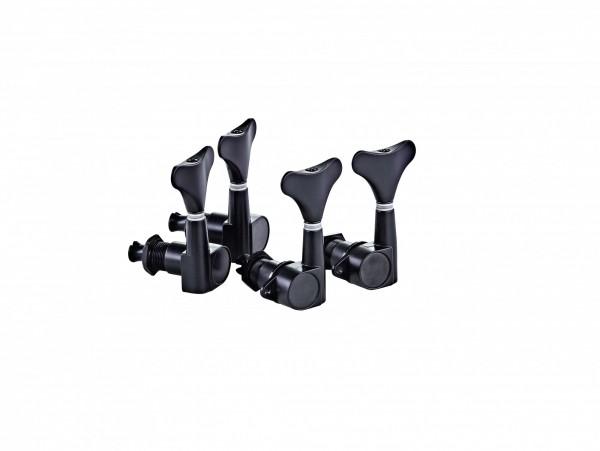 ORTEGA Electric/acoustic bass tuning machines, standard, 4-string Die-Cast, 2+2 - Black (OTMEB22-GB)