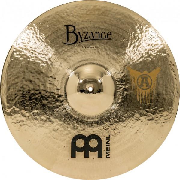 "Meinl Cymbals Byzance Brilliant Pure Metal Ride - 24"" (B24PMR-B)"