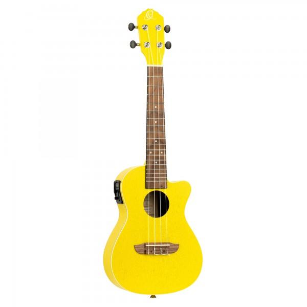 ORTEGA Earth Series Concert Ukulele - Sun Yellow Acoustic Electric (RUSUN-CE)