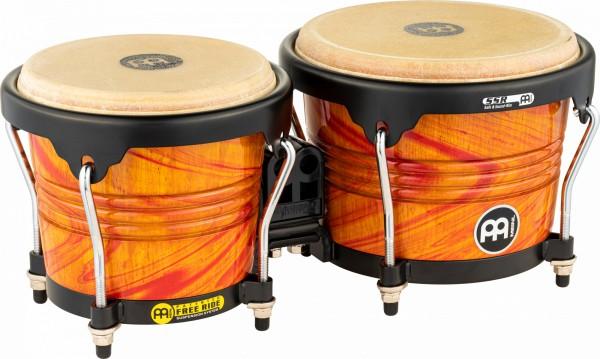 "MEINL Percussion Free Ride Designer Bongo - Amber Flame 6 3/4"" MACHO & 8"" HEMBRA (FWB190AF)"