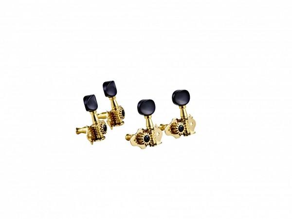 ORTEGA Ukulele set open gear, black ABS button - Gold (OTMUKOG-GO)