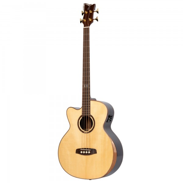 ORTEGA Private Room Series Acoustic Bass 4 String Medium Neck Preamp Lefty - built in Armrest, Bag (STRIPSU.ACB-L)