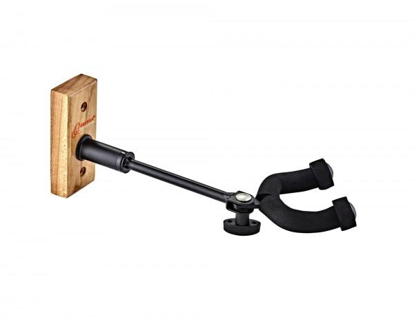 ORTEGA Wall Hanger for Guitar & Bass - Adjustable wall hanger - Walnut Wood (OGHAD-1WN)