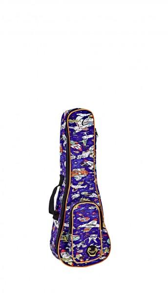 KEIKI Gigbag for Concert Ukuleles with Shoulder Straps - Spaceman (KUB-SP-CC)