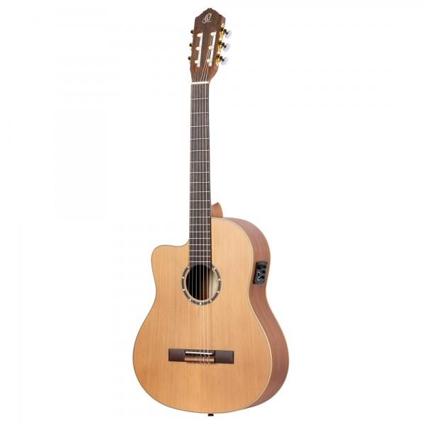 ORTEGA Family Series Pro 4/4 Classical Guitar Slim Neck Lefty - Natural Cedar + Bag (RCE131SN-L)