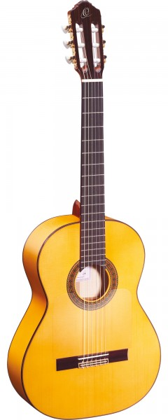 ORTEGA Classical Guitar Flamenco Traditional Series 4/4 inclusive Gigbag Made in Spain - NT - Natural (R270F)