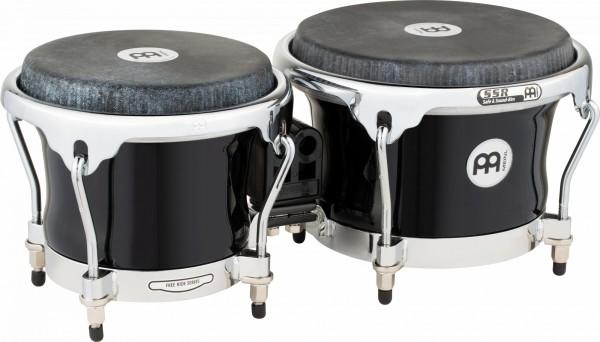 "MEINL Percussion Fibercraft Fiberglass Bongo Set - 7"" Macho & 8 1/2"" Hembra black (FFBR400BK)"