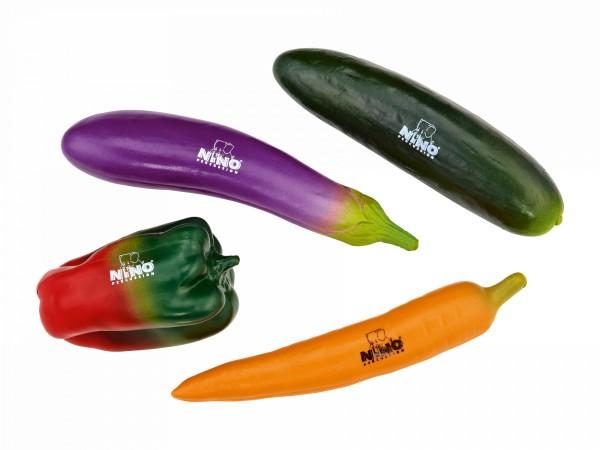 """NINO Percussion """"Vegetable"""" Shaker Assortment - 4 Pcs. (NINOSET101)"""