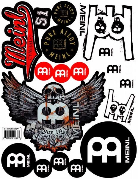 Meinl DIN-A4 sticker-sheet with 17 stickers (STICKER-DINA4)