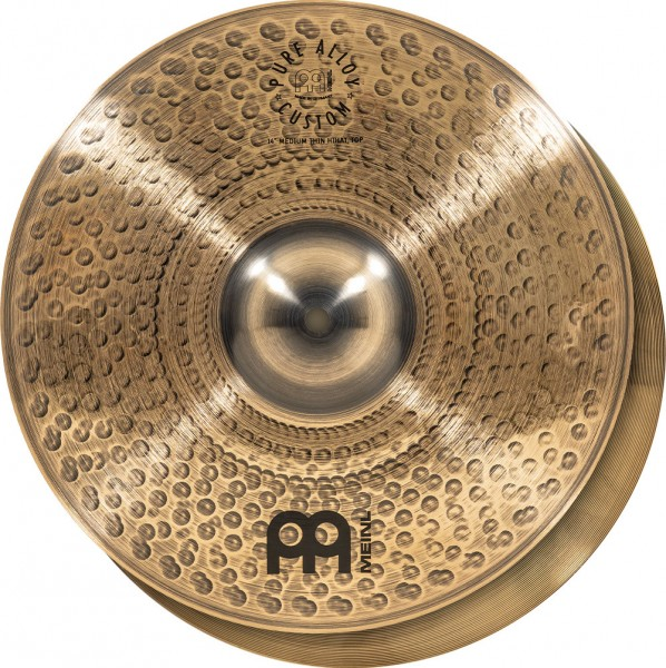 """MEINL Cymbals Pure Alloy Custom Hihat - 14"""" (PAC14MTH)"""
