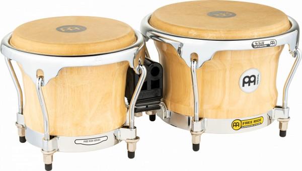 "MEINL Percussion Free Ride Wood Bongo - Natural 7"" MACHO & 8 1/2"" HEMBRA (FWB400NT)"