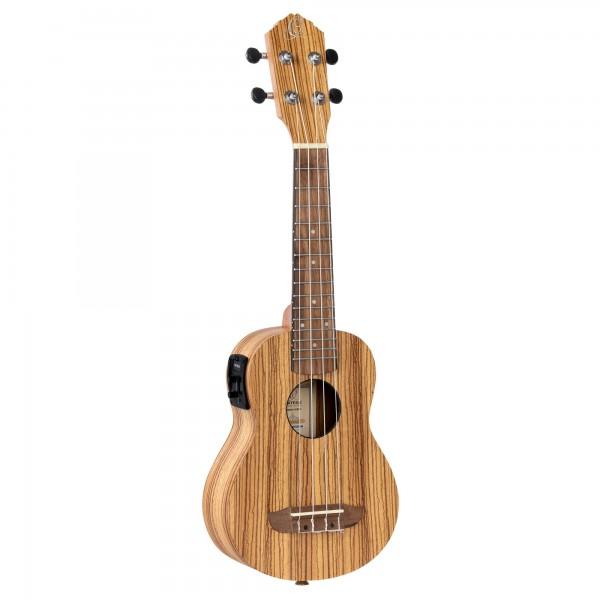ORTEGA Ukulele Timber Series Soprano Preamp inclusive Gigbag - Natural Zebrawood (RFU10ZE)