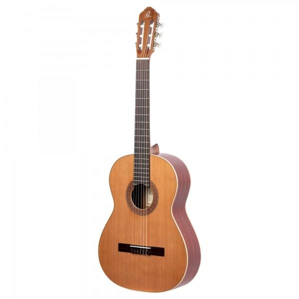 ORTEGA Traditional Series Classical Guitar 4/4 Lefty Made in Spain - Natural Cedar + Bag (R200L)