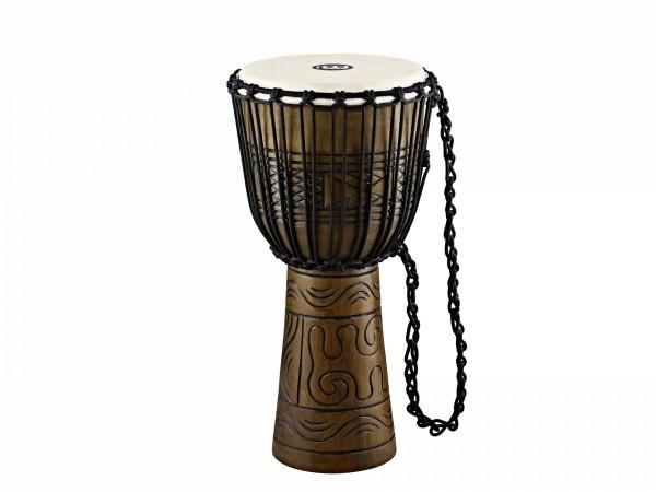 "MEINL Percussion Headliner Rope Tuned Artifact Series Djembe Large - 12"" Brown (HDJ17-L)"