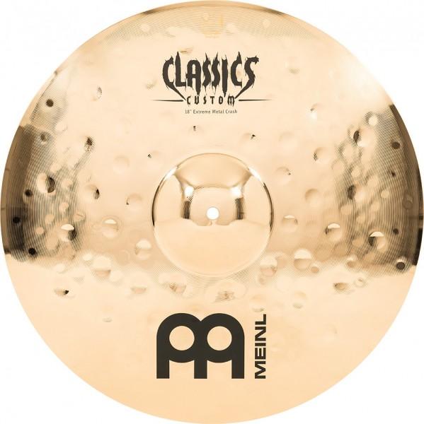"MEINL Cymbals Classics Custom Extreme Metal Crash - 18"" Brilliant Finish (CC18EMC-B)"