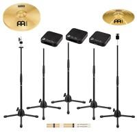 MEINL Percussion Cajon Tap Drum Set - consists of CHS/CCS/CAS/CST/CTT/CJT/SB200/HCS13H/HCS10S with Cymbals (MCTS2)