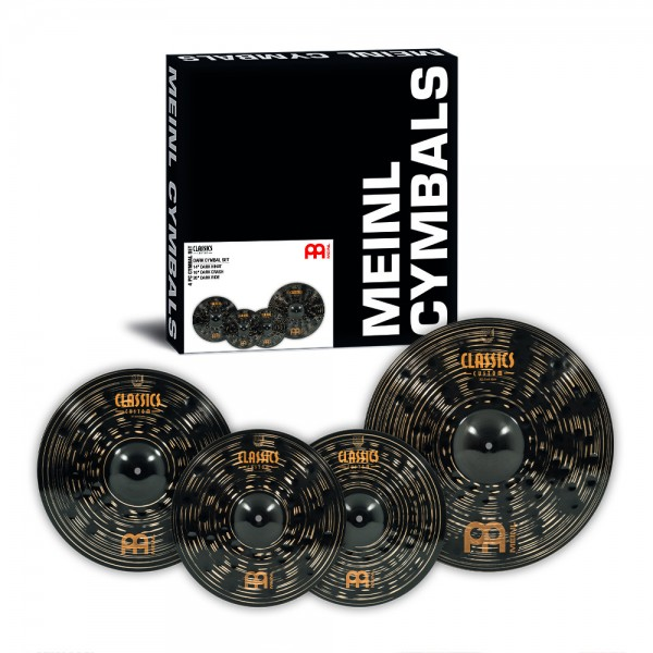 "MEINL Cymbals Classics Custom Dark Cymbal Set 3-pcs - 14"" (35,56cm) Dark Hihat, 16"" (40,64cm) Dark Crash, 20"" (50,80cm) Dark Ride (CCD141620)"