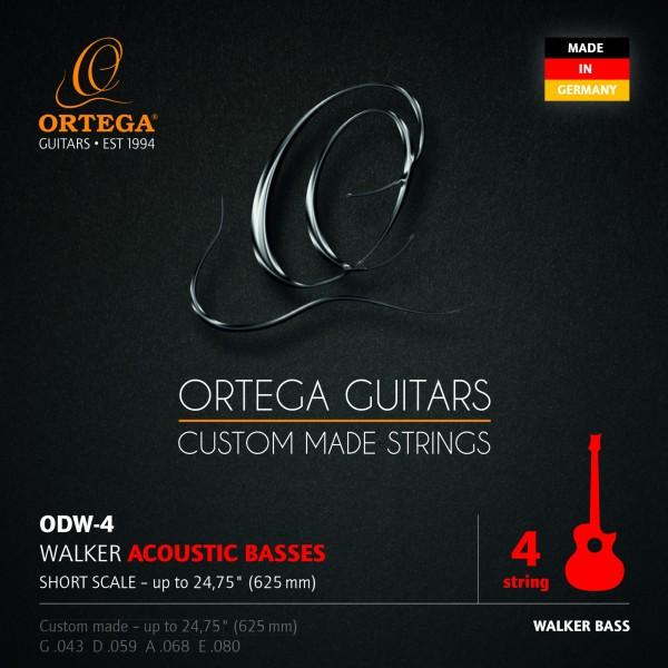 ORTEGA Stringset for D-Walker Acoustic Bass Short Scale - Custom Made in Germany (ODW-4)
