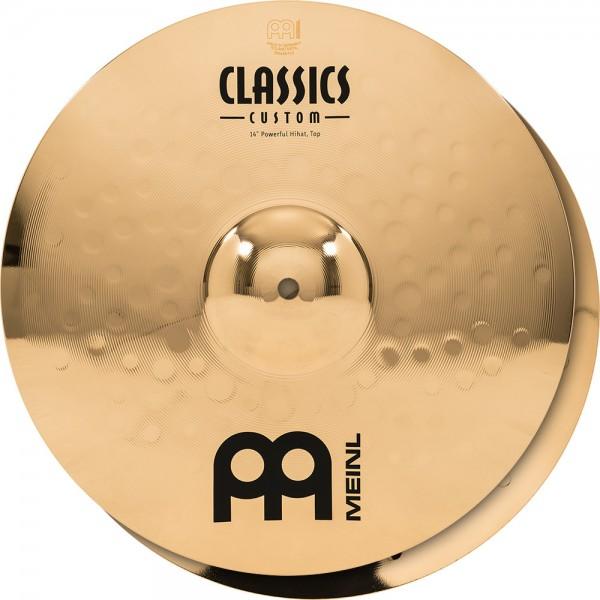 "MEINL Cymbals Classic Custom Powerful Hihat - 14"" Brilliant Finish (CC14PH-B)"