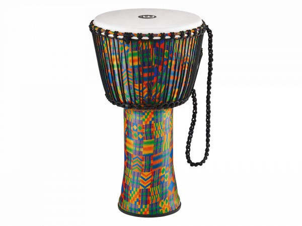 MEINL Percussion Travel Series African Djembe - Kenyan Quilt, Extra-Large - Synthetic Head (PADJ2-XL-F)