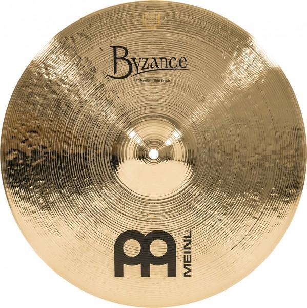 """MEINL Cymbals Byzance Brilliant Medium Thin Crash - 16"""" (B16MTC-B)"""