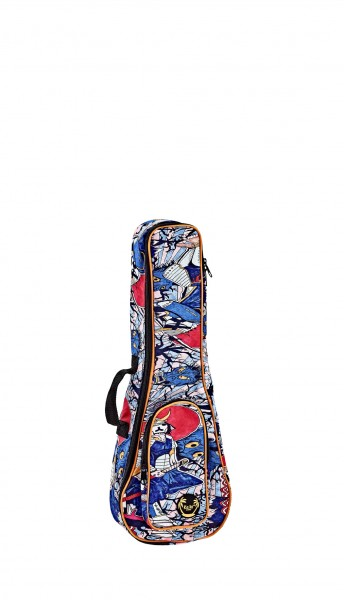 KEIKI Gigbag for Concert Ukuleles with Shoulder Straps - Samurai (KUB-SR-CC)