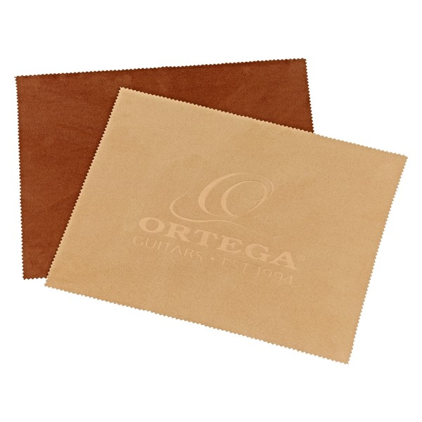 ORTEGA Polish Cloth Pack Of Two - Light Yellow And Light Brown (OPC-LY/LB)