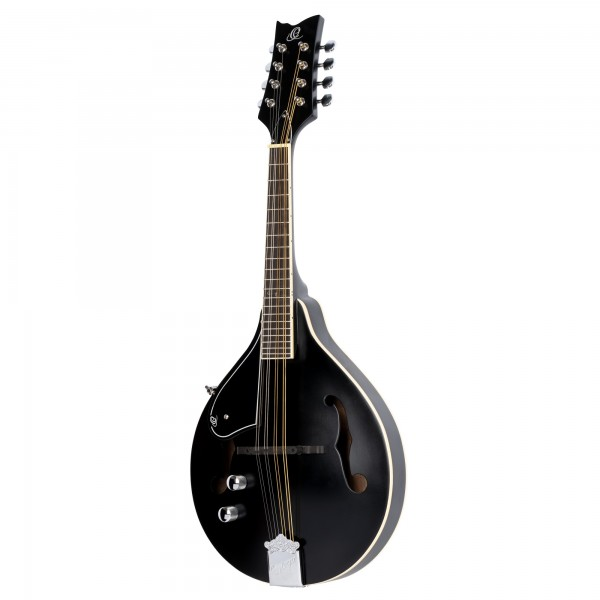 ORTEGA A-Style Series Mandoline 8 String Lefty - black + Gigbag and Strap (RMAE40SBK-L)
