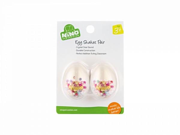 NINO Percussion Egg Shaker Pair - transparent (NINO540T-2)