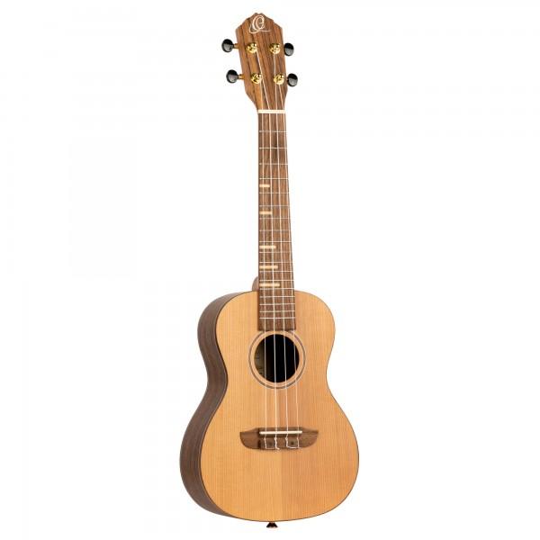 ORTEGA Timber Series Concert Ukulele - solid cedar top / walnut back & sides / maple freteboard inlays - Natural (RUTI-CC)